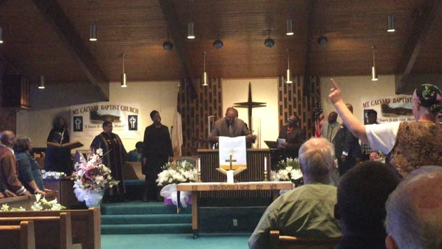 Good Friday services were held at Mount Calvary Baptist Church on Friday at noon and 7 p.m.