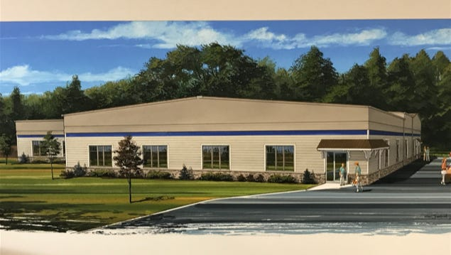 A rendering by Centgraph Inc. shows what the exterior of a proposed recreation center would look like. Livingston County business owner Stefan Kril is planning to renovate a vacant former lumberyard warehouse at 195 E. Hamburg Street in Pinckney.