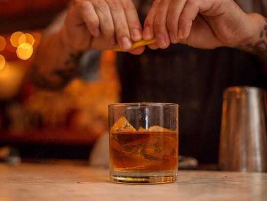 The old-fashioned at The Apothecary at Brent's Drugs.