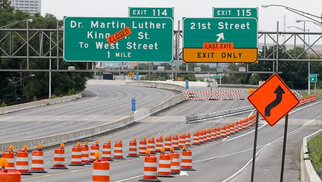Construction has begun on I-65 between 21st Street to Meridian Street through downtown Indianapolis on July 2, 2018.