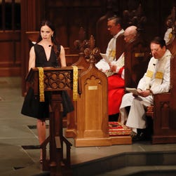 Barbara Bush's granddaughters gave emotional, moving readings during funeral service