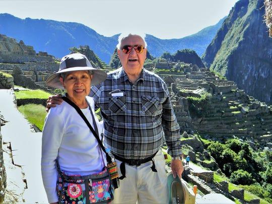 Dorothy and Ernest Kallen of Scottsdale at Machu Picchu, their No. 1 destination.