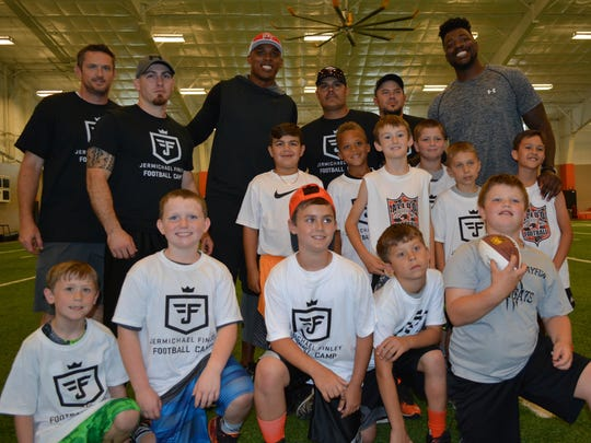 Jermichael Finley hosted his first youth football camp earlier this month in Aledo with a couple hundred kids attending.