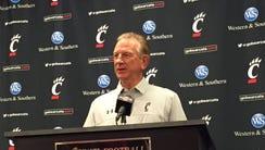 University of Cincinnati football coach Tommy Tuberville