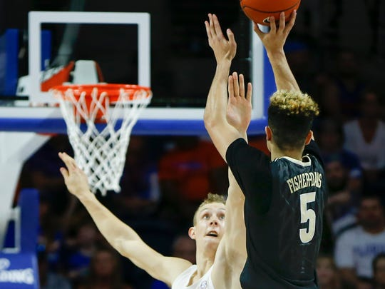 Vanderbilt guard Matthew Fisher-Davis (5) shoots over