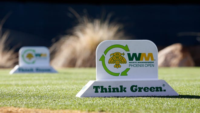 A tee marker on the 16th hole during the Waste Management Phoenix Open at TPC Scottsdale.