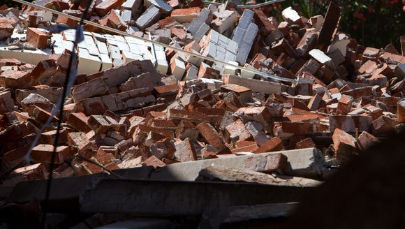 A pile of rubble is pictured at the historic Circles