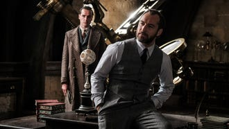 Jude Law debuts the younger version of 'Harry Potter' headmaster Albus Dumbledore in the sequel 'Fantastic Beasts: The Crimes of Grindelwald.'