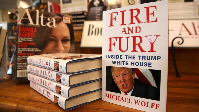 "Copies of the book ""Fire and Fury,"" by author Michael Wolff, are selling quickly on both sides of the Atlantic."