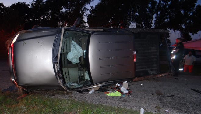One person was pronounced dead at the scene of a one-vehicle rollover crash early Sept. 10 in Dodge County. Another person sustained life-threatening injuries.