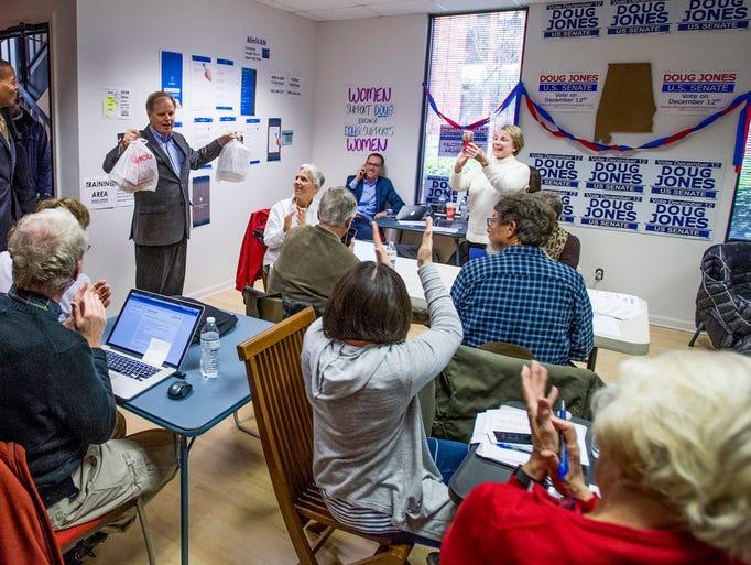 Democratic U.S. Senate candidate Doug Jones  shows