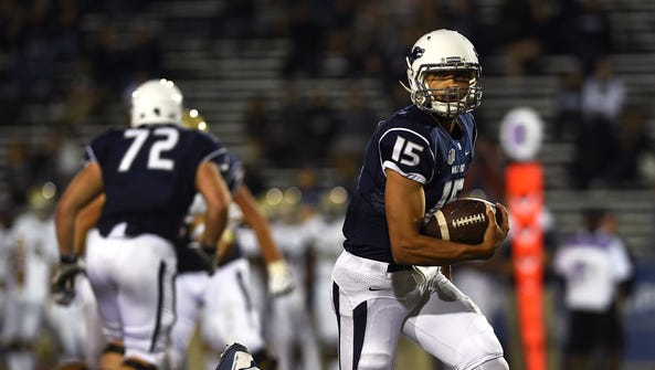 Quarterback Tyler Stewart and the Wolf Pack are looking