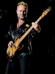 Sting will play in Seattle July 21.