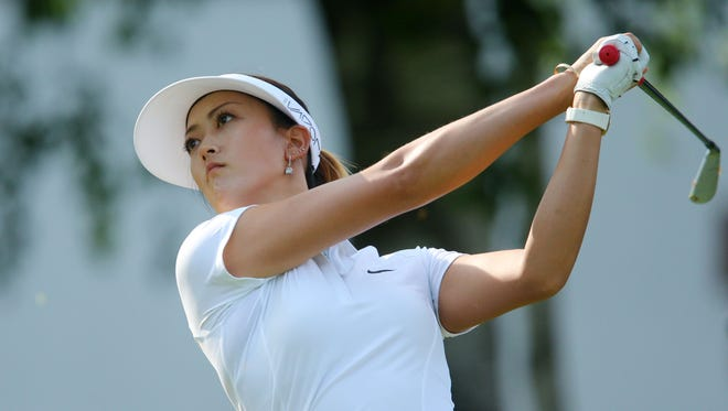 Michelle Wie plays during the second round of the KPMG Women's PGA Championship at Westchester Country Club on June 12, 2015.