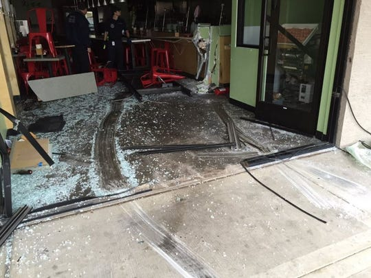 A mini van crashed into a Japanese ramen restaurant in Tempe Tuesday morning.