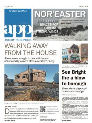 Asbury Park Press front page Dec. 9