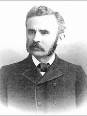 Adam F. Geesey [1841-1921] (From opposite page 46 in Volume II of George Prowell's History of York County, PA; published in 1907)