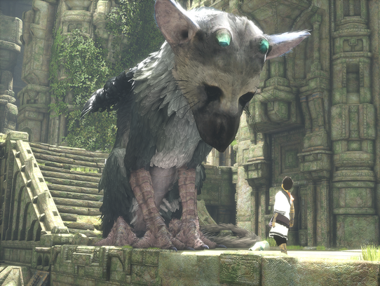 A scene from 'The Last Guardian.'