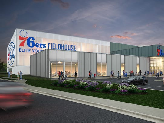 Artist's depiction of the 76ers Fieldhouse to be built