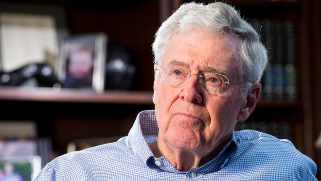 Charles Koch, chairman and CEO of Koch Industries,  answers questions during a recent interview.