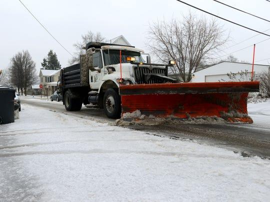A Lancaster Department of Transportation snow plow