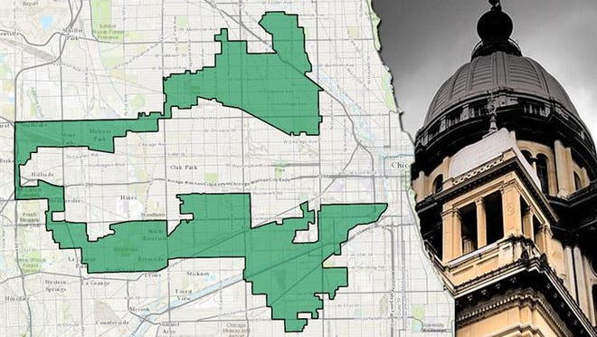 Illinois' 4th congressional district was named one of the nation's most gerrymandered by the Washington Post in 2014.