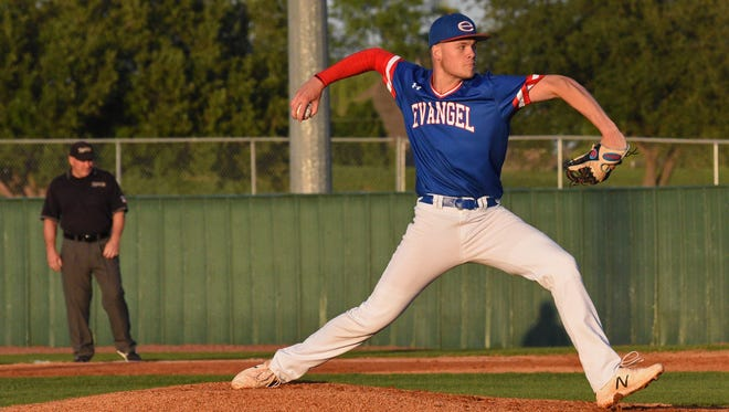 Evangel's Blake Shapen pitched a 3-hitter in topping Byrd Friday night.
