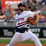 Tim Adleman was the opening pitcher for the Pensacola Blue Wahoos during their game in Pensacola Friday evening.  The Wahoos won 5-1.