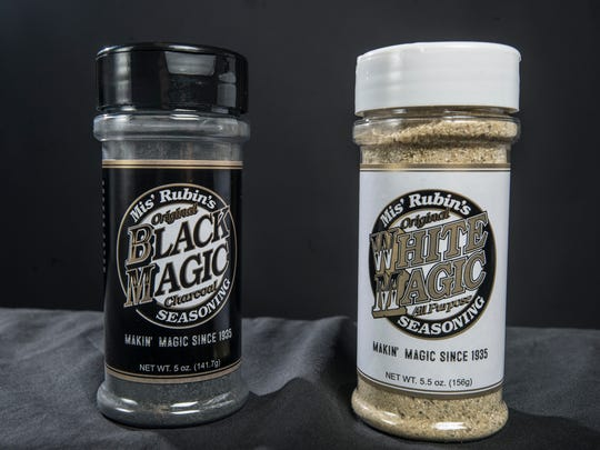 Mis' Rubin's Original Black Magic Charcoal Seasoning and White Magic All Purpose Seasoning. Robert and Ashley Landers now own the rights to the meat seasonings that made Penny Profit a Montgomery staple for nearly 70 years.
