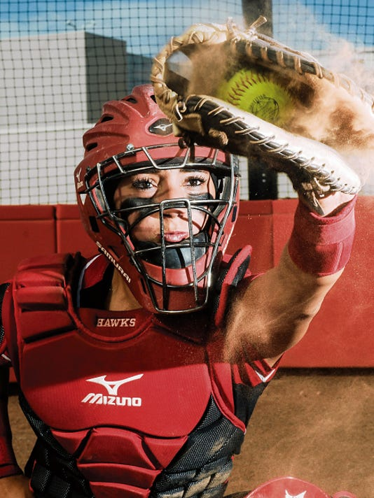 Centennial High School's Alexis Maynez helped build the Hawks softball program into a state title contender in three years. The Hawks reached the Class 5A state title game and Maynez signed to play college softball at New Mexico State. Maynez was selected as the 2015 Sun-News Female Prep Athlete of the Year.