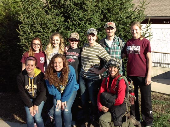 Several Evangel University Kinesiology students recently