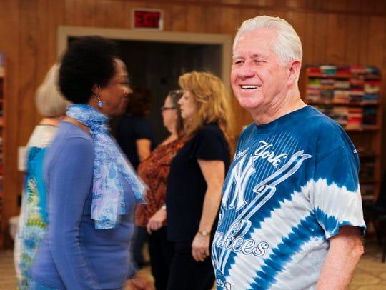 Don Van Orden teaches line dancing at Smyrna Senior