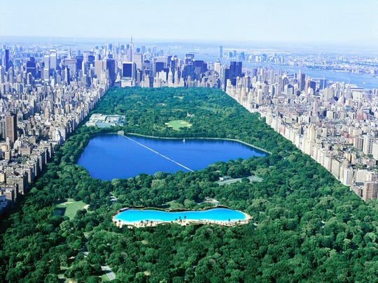 Besides conventional real estate projects, Crystal Lagoons believes its water technology can have a transformative effect on urban neighborhoods and public parks. This Photoshopped rendering of  Central Park in Manhattan superimposes a Crystal Lagoon in the heart of the city's urban recreational space.