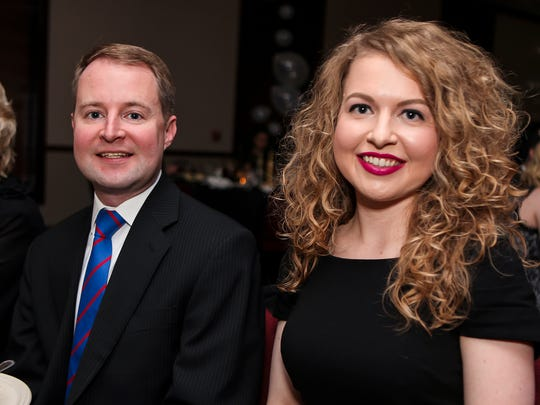 Rutherford County Commissioner Robert Stevens, left, and his sister, Smyrna Town Court Clerk Brittany Stevens are pictured at a 2017 New Year's Eve event hosted by Smyrna Rotary Club.