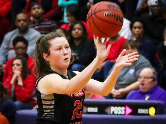 Stewarts Creek's Morgan McCrary fires a shot during Friday's contest at Smyrna.