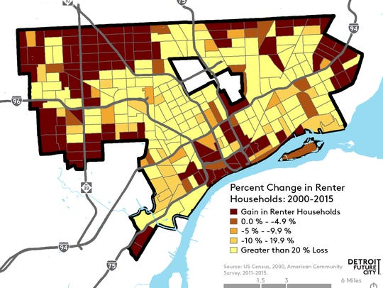 This map provided by the Detroit Future City Implementation