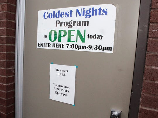 Coldest Nights emergency shelter opens when temperatures are 32 degrees or below.