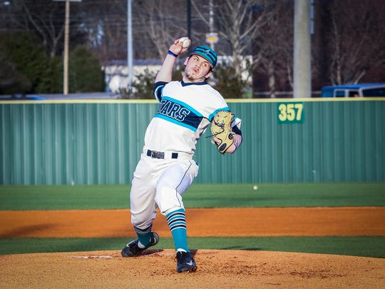 Siegel's John Ross Langworthy fires a pitch during a recent game against Oakland.