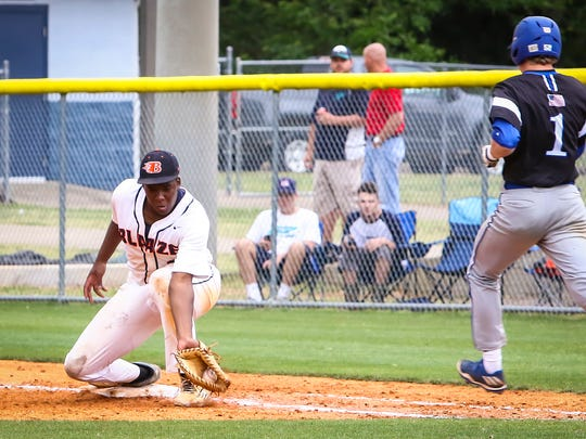 Blackman vs. Brentwood, Class AAA state baseball tournament, Wednesday, May 24, 2017.