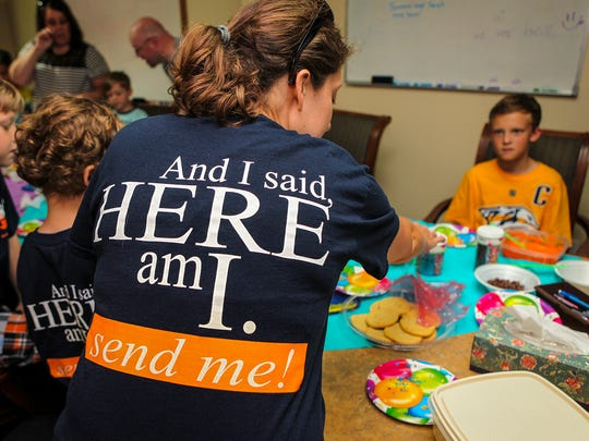 Barnabas Vision volunteers decorated and delivered cookies to Rutherford County first responders Tuesday.