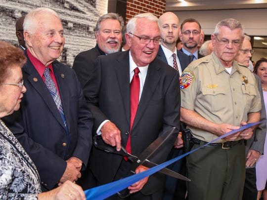 Rutherford County cut the ribbon on the new judicial center Wednesday, April 28, 2018. The building officially opens for service on Monday, May 7.