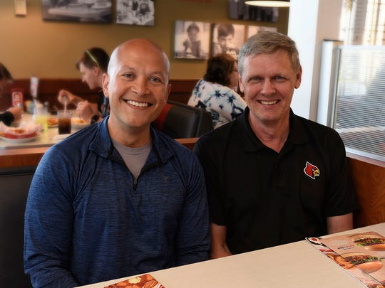 Dell Carter, left, with Paul Scheper, the CFO of ERS. Carter will be promoted to CFO when Scheper retires in July. Scheper has mentored Carter for the past two years, and the pair has built a close relationship. Together, they have shaped the ERS accounting team of the future.