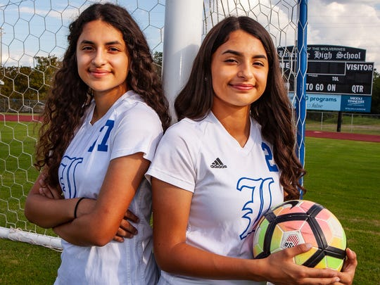 La Vergne senior twins Ayline Mateos (left) and Annette Mateos have been a potent offensive and defensive punch for the Lady Wolverines