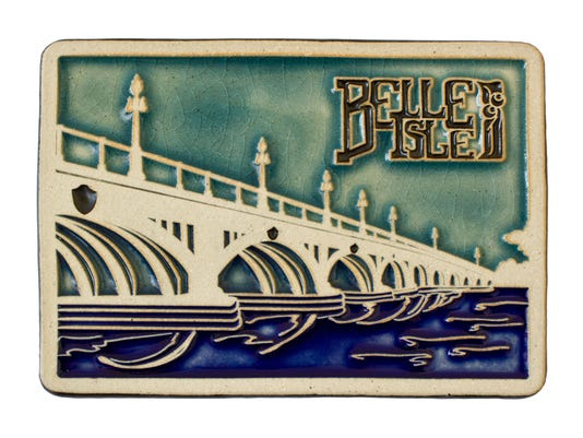 PEWABIC_BELLE ISLE BRIDGE - Pewabic 25th Anniversary Tile -