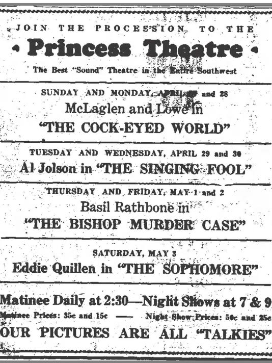 PRINCESS THEATRE AD