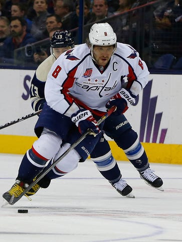 Washington Capitals left wing Alex Ovechkin is day-to-day