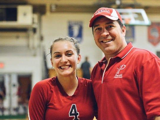 Pacelli senior Andrea Pisarski credits her dad and