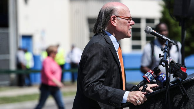 Congressman Steve Cohen speaks during the grand re-opening ceremony for the Main Street Trolley in Memphis on April 30. Cohen appears well on his way to re-election to the U.S. House this cycle.