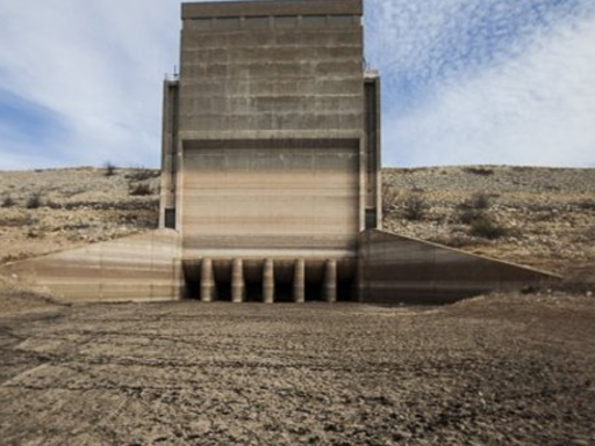 When O.C Fisher Reservoir dried up in 2013.
