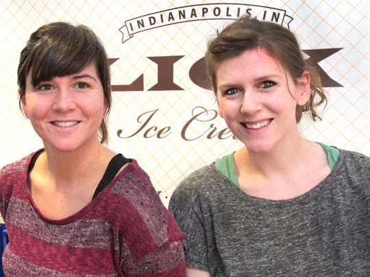Sisters Kelly Ryan, left, and Meredith Kong own Lick Ice Cream.